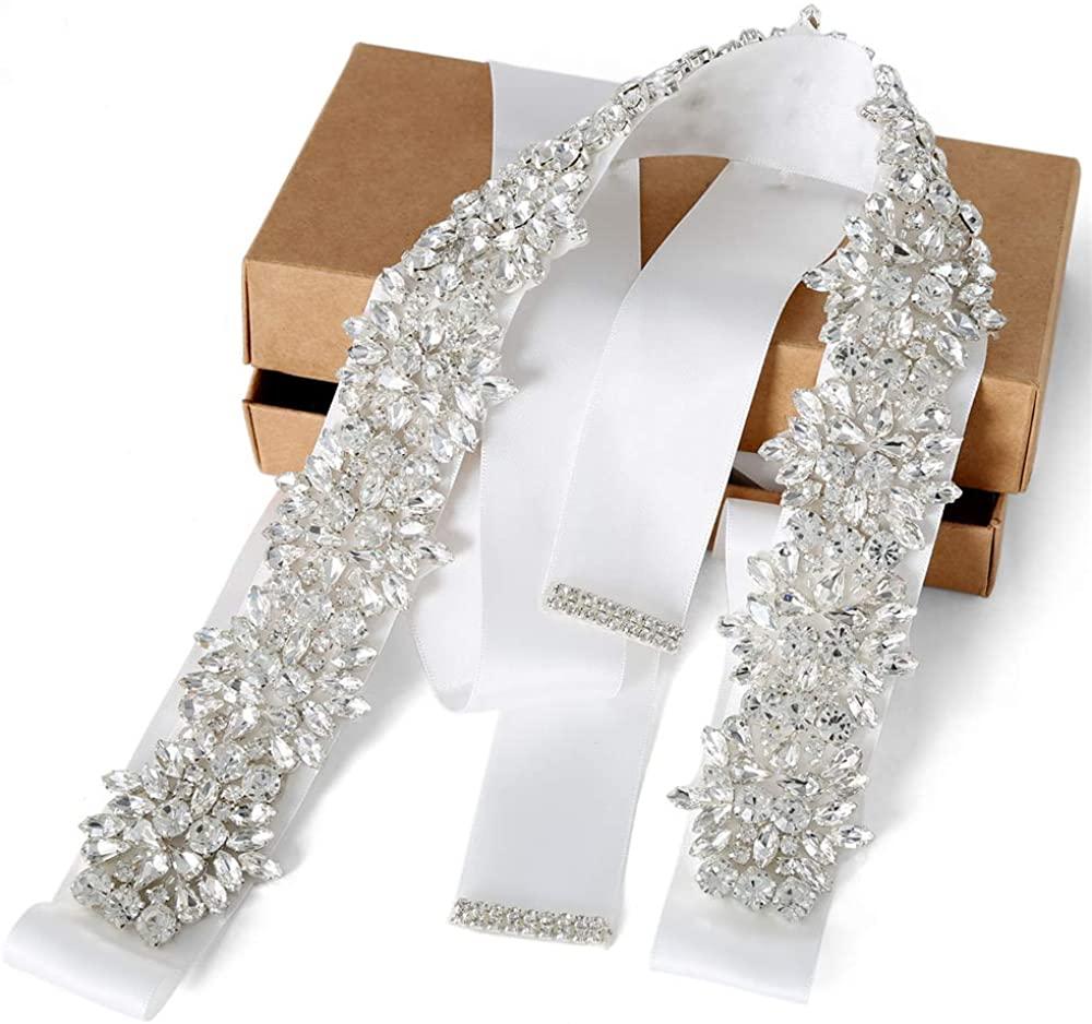 Rhinestone Bridal Belt Handmade Wedding Belt Wedding Belts Sashes Crystal Wedding Belt Women Dress Accessories