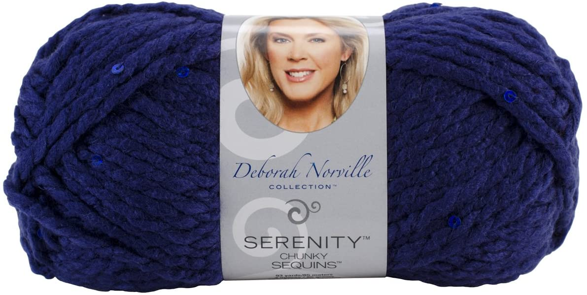 Deborah Norville Serenity Chunky Sequin Yarn, Night Sky, 3 Pack