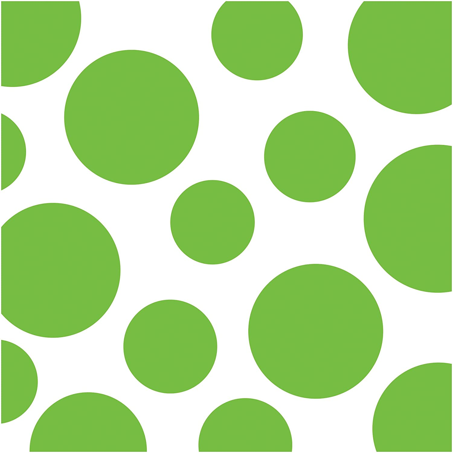 Creative Converting 16 Count Chevron and Polka Dots Lunch Napkins, Fresh Lime