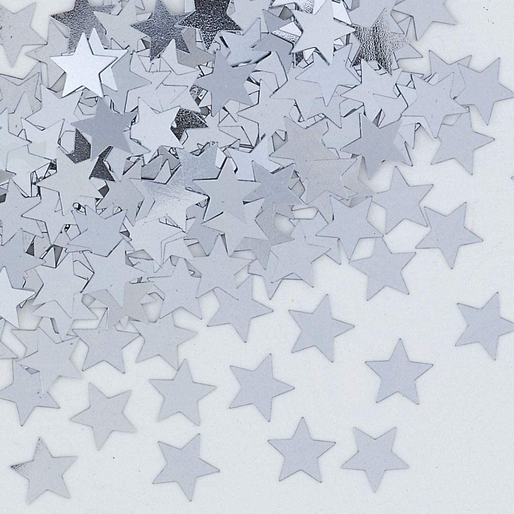 Party 14G Silver Star Table Confetti - Fabulous Silver Star Wedding Party Table Con...