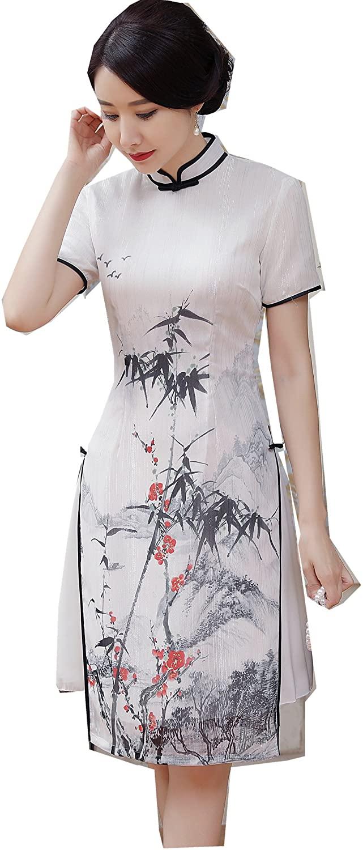 Shanghai Story Vietnam ao dai Dress Chinese Cheongsam Dress Short Qipao