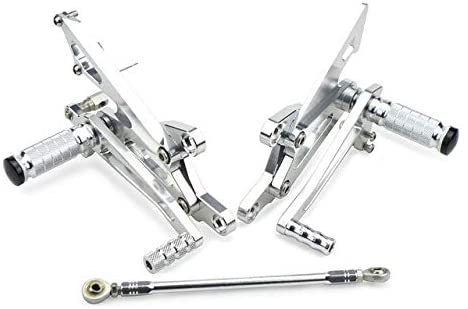 Frames & Fittings CNC Billet Racing Foot Pegs Rest Rear Sets Footpeg Footrest for Honda VFR400 RVF400RN C30 NC35 All Years - (Color: Silver)
