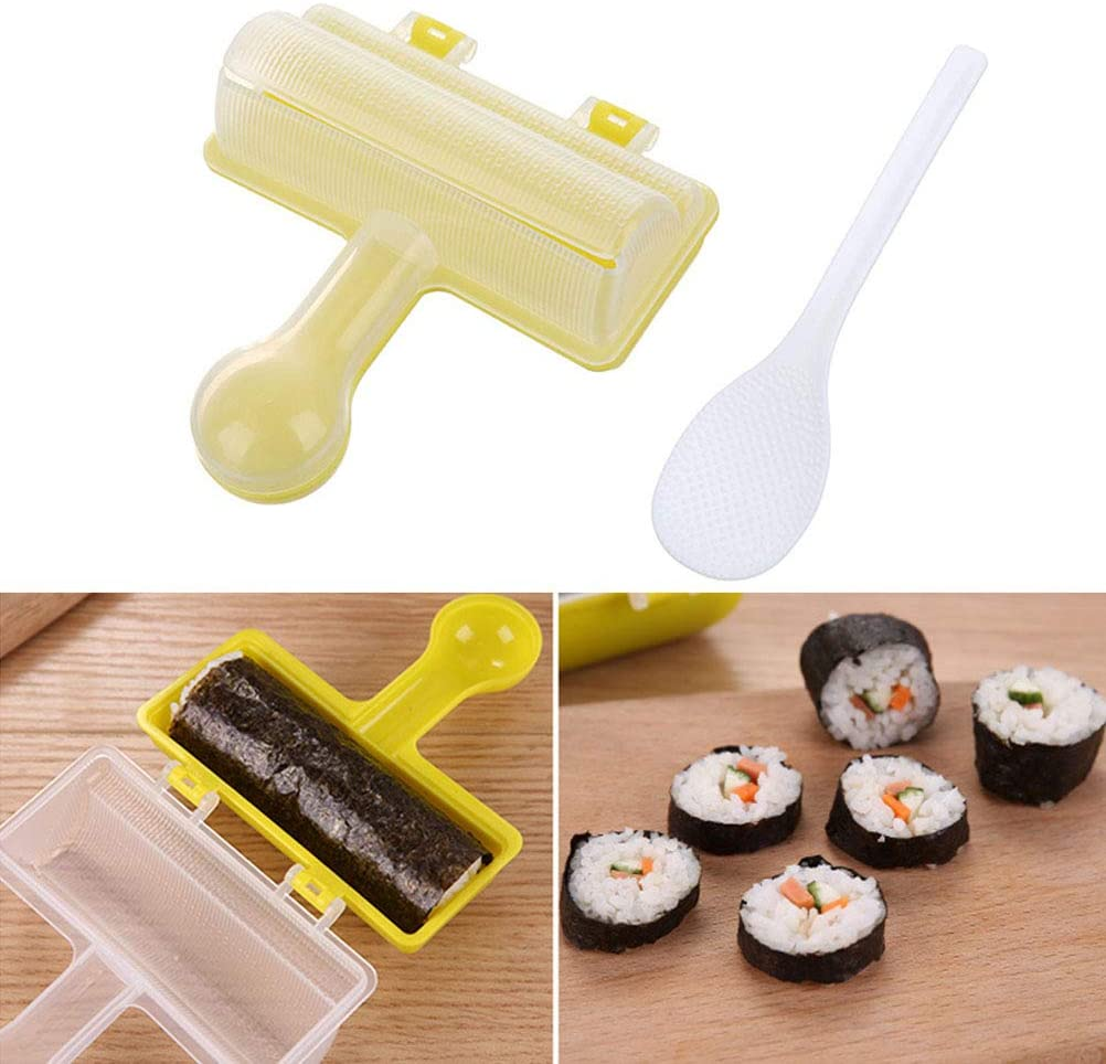 Sushi Mold, Sushi Maker with Spoon Shake Rice Ball Shape DIY Bento Tools Sushi Making Kit for Beginners
