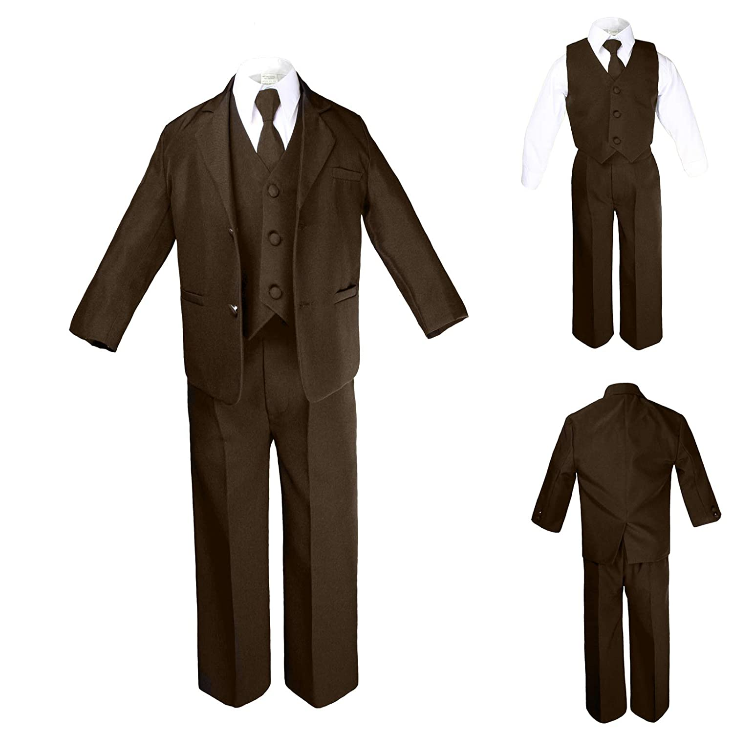 Unotux Formal Boy Brown Suit from Baby to Teen (4T)