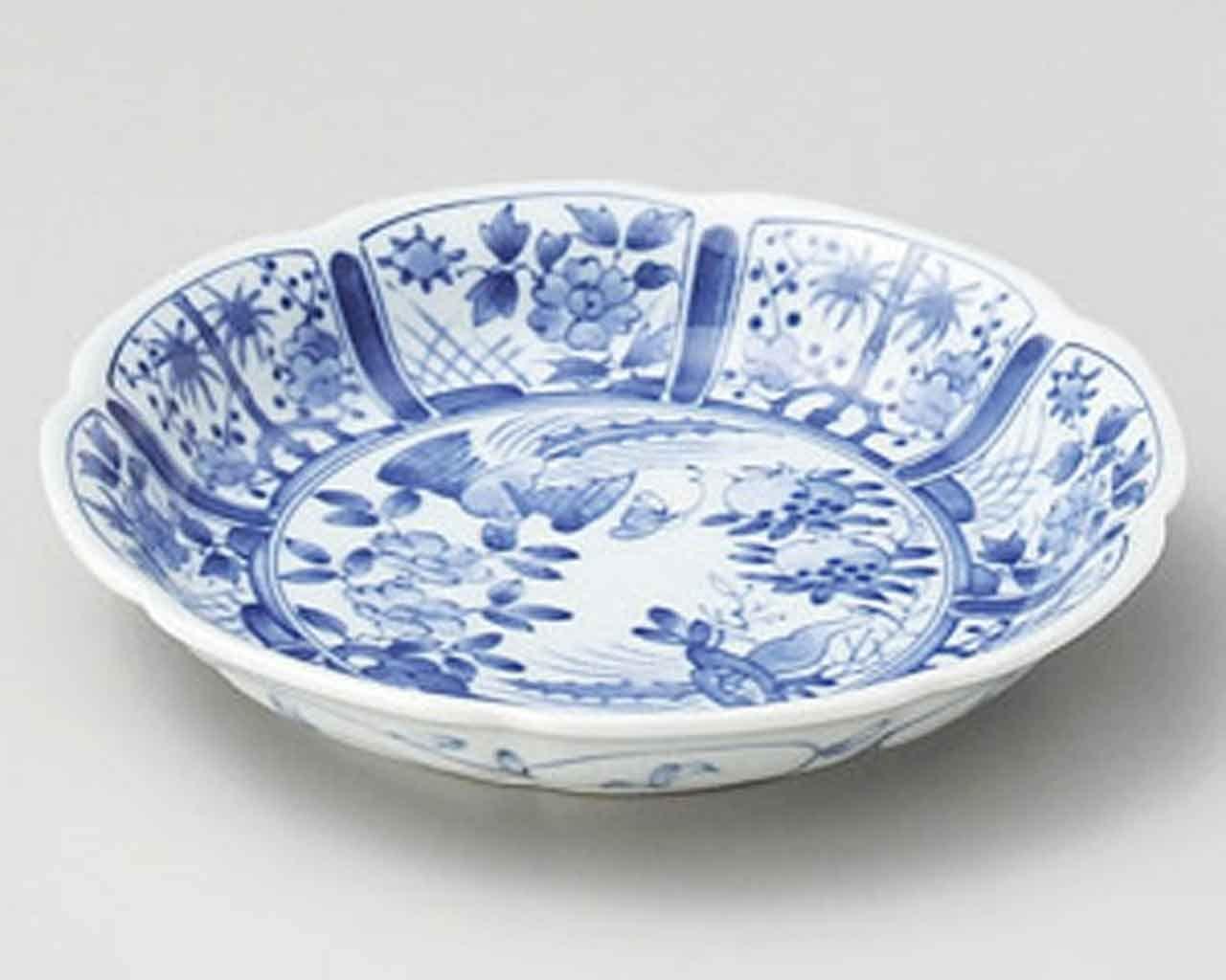 Yukiwa Kacho 5.3inch Set of 5 Small Plates White porcelain Made in Japan