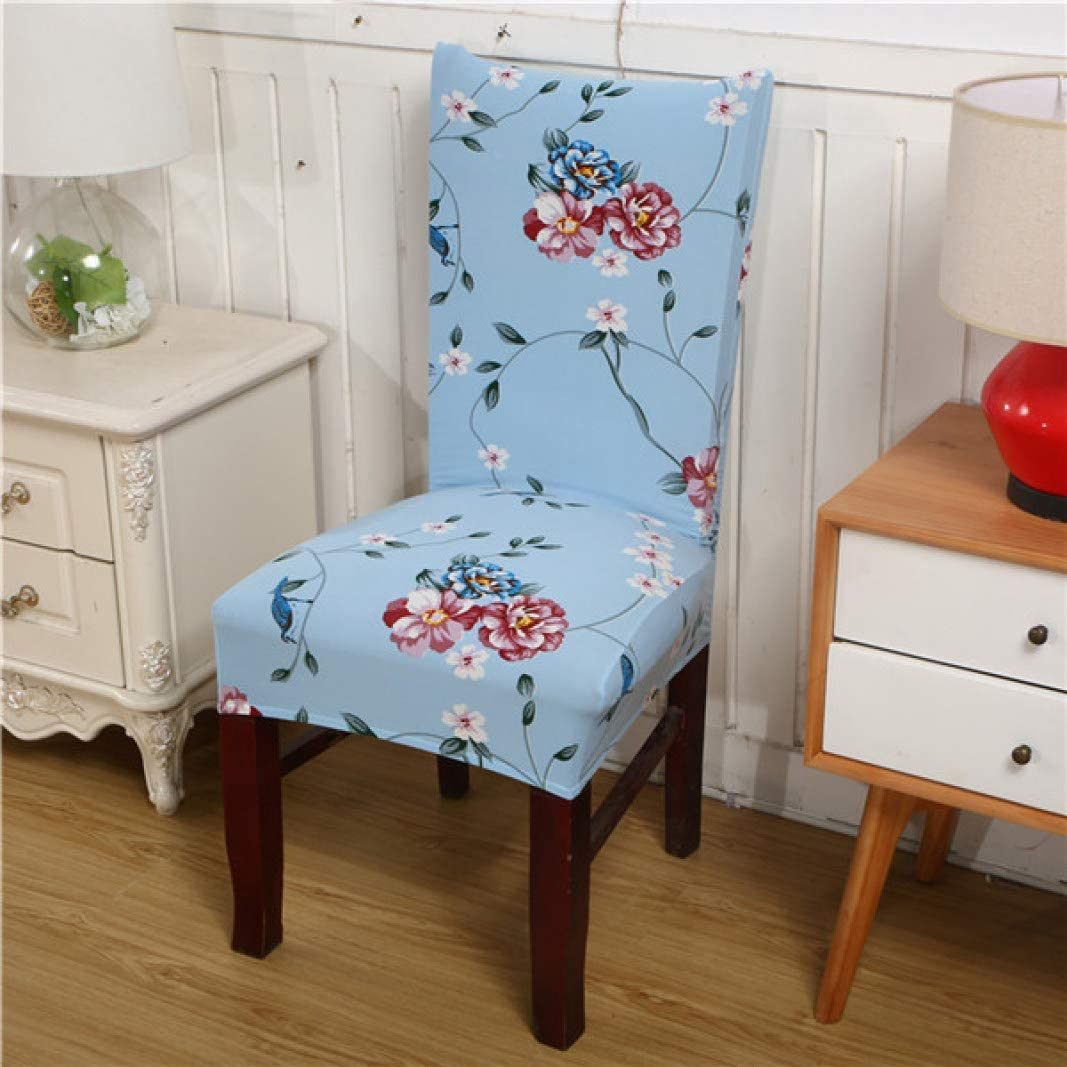 BEOTARU Printed Chair Cover Washable Removable Elastic Seat Covers Slipcovers Used for Banquet Hotel Home