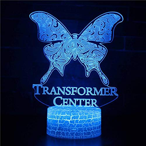 LED Night Light with Beautiful Butterfly Pattern,7 Colors Changing with USB Cable,Touch Remote Control, Best for Children Gift Baby Bedroom and Party Decorations.