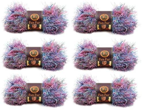 Lion Brand Yarn - Fun Fur - 6 Pack (Tropical)