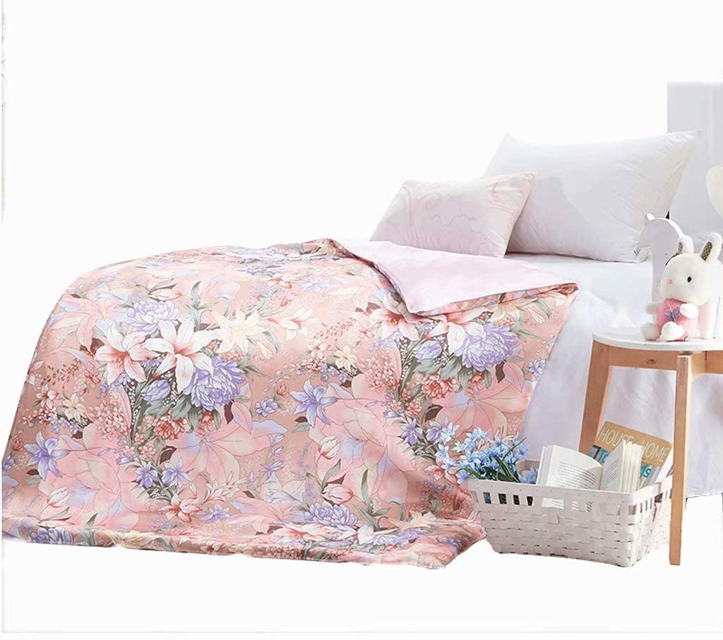 fscz Children's 100% Silk Mulberry Silk Sheets are The Spring and Autumn Winter People are Conditioned to Be Picture-Been Silk Quilt 150 200Cm