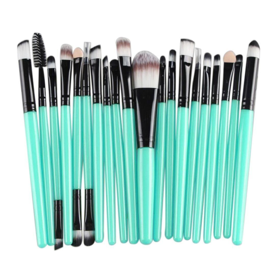SANNYSIS 20 pcs Makeup Brush Set tools Make-up Toiletry Kit Wool Make Up Brush Set (Black)