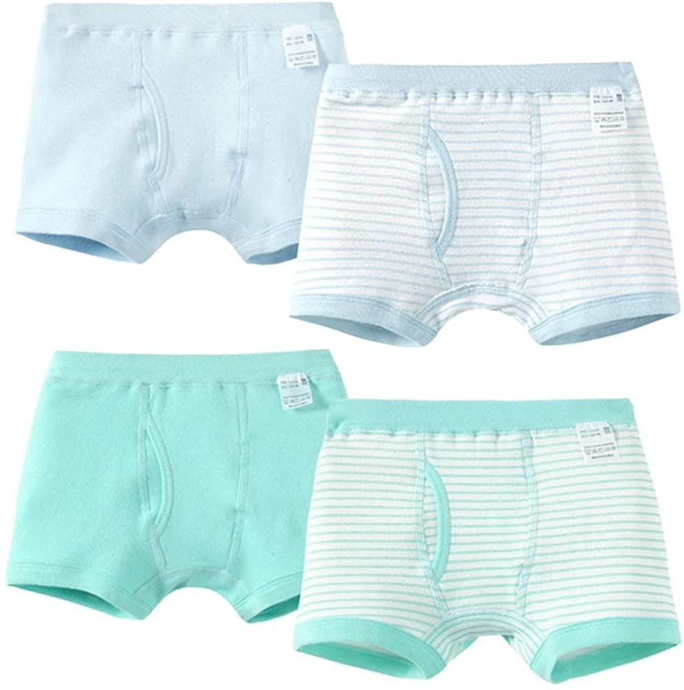 Qiribati Girl's Assorted Briefs Underwear Knickers Breathable Panty Bundle Pack of 4