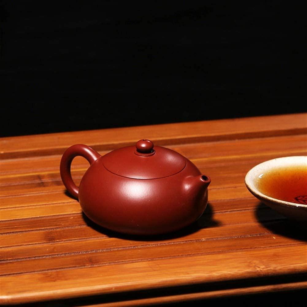 MADONG Teapot ore Zhuni Dahongpao flat pot Shih kung fu tea set teapot (Color : Purple mud)