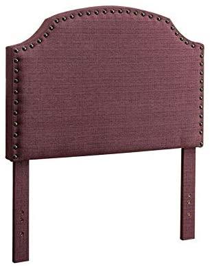 HomeRoots Polyester Purple Twin Size Headboard
