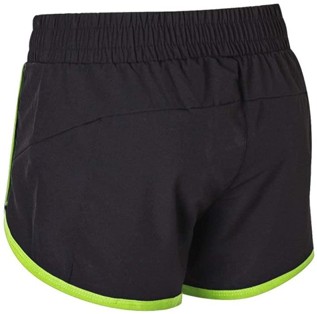 NAWING Women's Biking Pants Fashion Zipper Pocket Fake Two Short Exercise Fitness Training Thin Quick-Dry Cycling Shorts