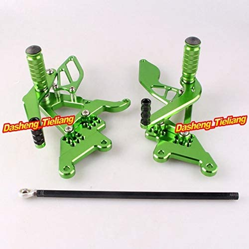 Frames & Fittings Motorcycle Adjustable Shift Brake Rear Set Footpegs Foot Rest Peg for Yamaha YZF R6 2003-2005 Spare Parts - (Color: Green)