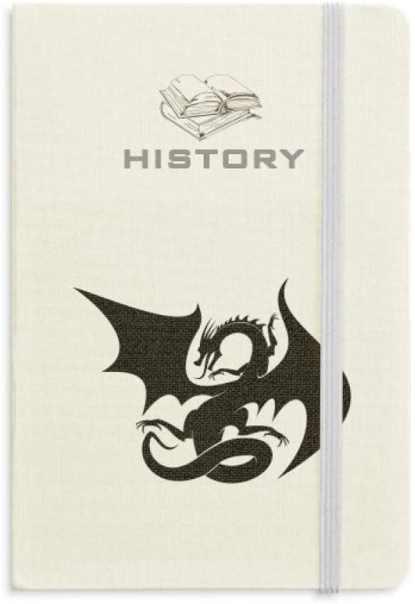 Dragon Animal Art Grain Silhouette History Notebook Classic Journal Diary A5