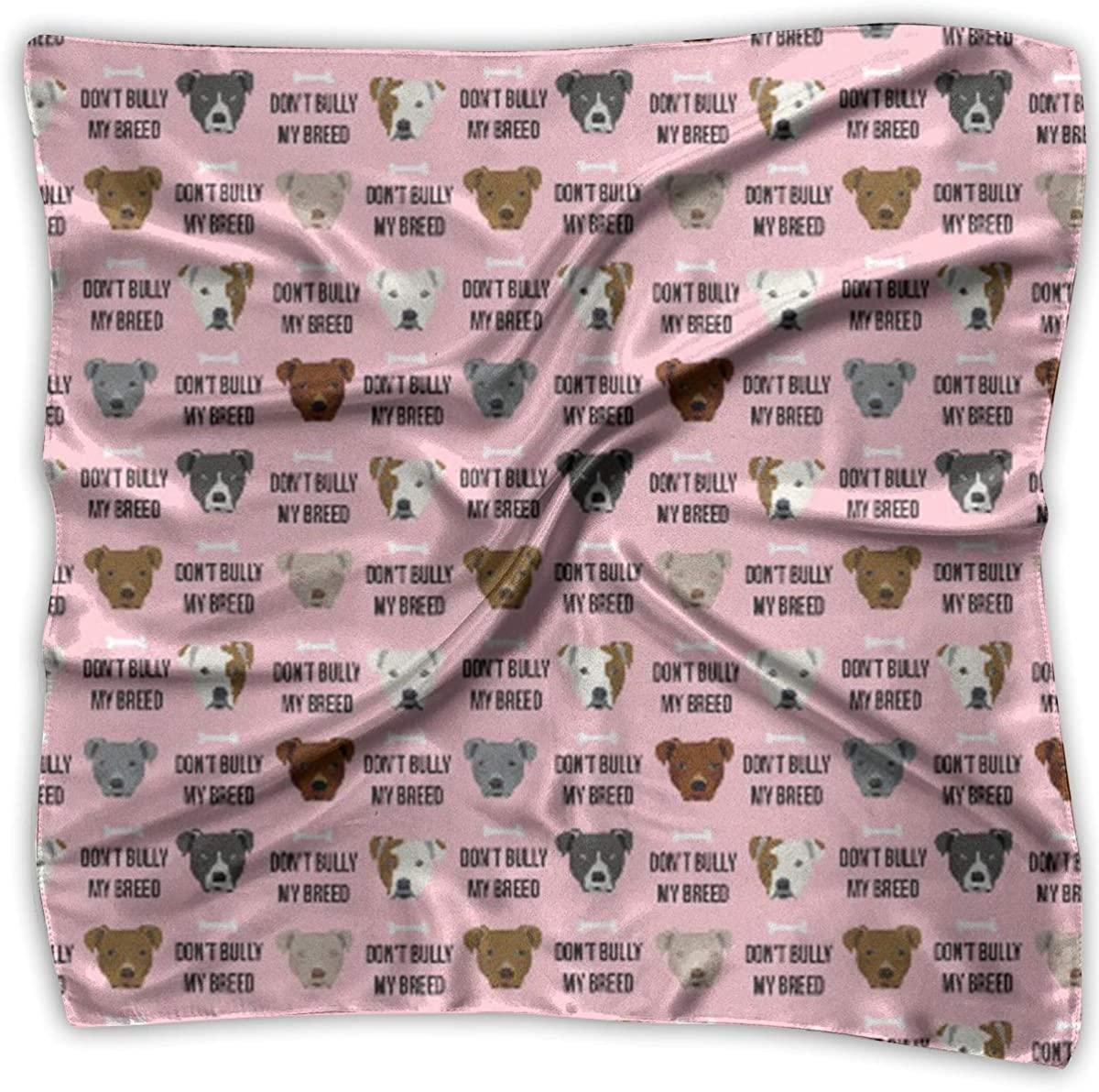 Don't Bully My Breed Women's Handkerchief Square Silk Party Handkerchiefs