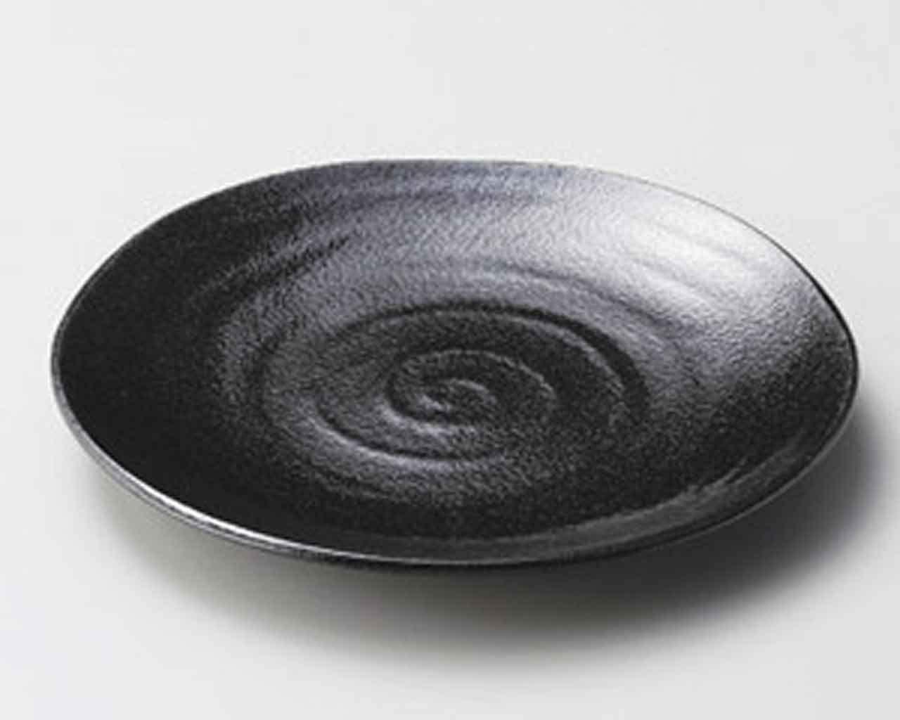 Voltex 9.8inch Set of 2 SUSHI PLATES Black porcelain Made in Japan