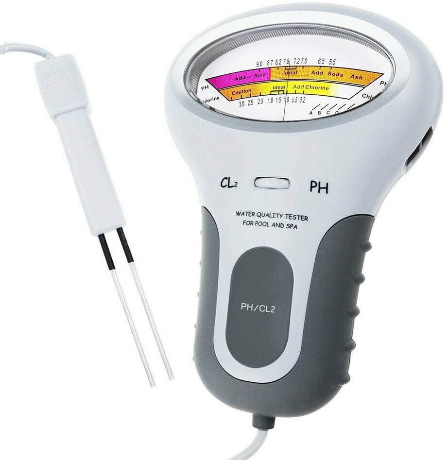 CoRui Pool Test Kit Digital PH Water Tester - Portable Digital 2 in 1 Water Quality PH and Chlorine Level CL2 Tester Meter
