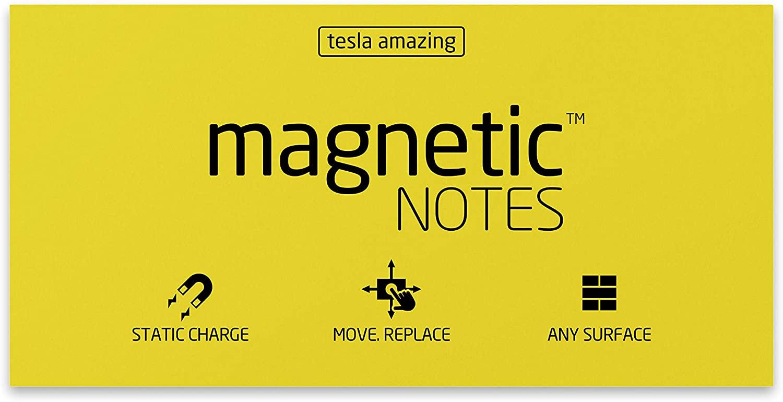 Tesla Amazing L Size Magnetic Notes - Yellow