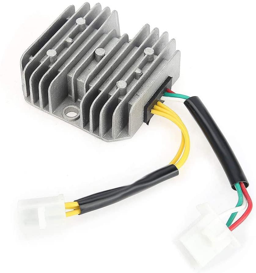 Automotive Step Down Up Voltage Regulator Power Converter, Voltage Regulator Rectifier Fit for GY6 125cc 150cc 6-Wire