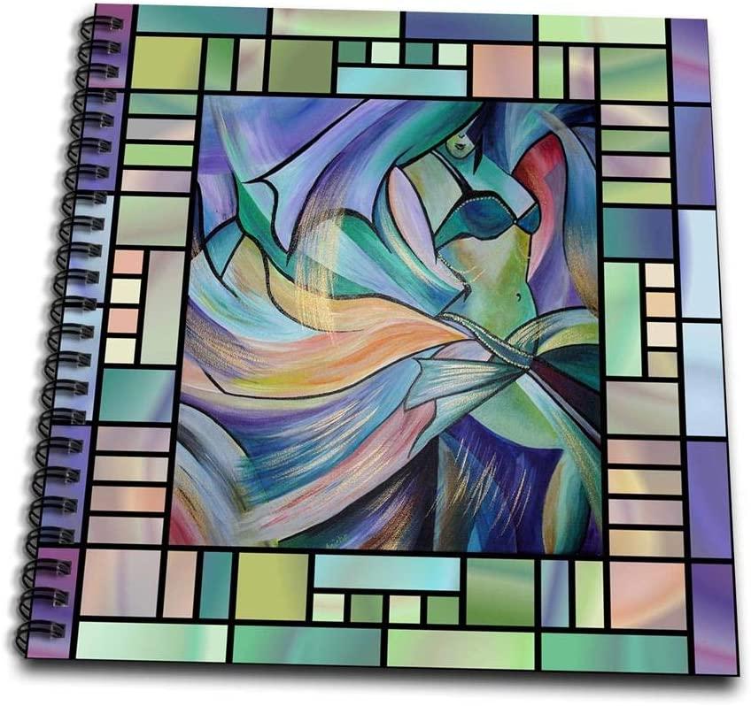 3dRose db_46761_2 Art Deco Dancer - Dance, Dancing, Belly Dance, Bellydance, Oriental Dance, Middle Eastern Dance, Memory Book, 12 by 12