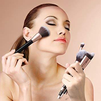 Makeup Brushes Premium Synthetic Foundation Powder Concealers Eye Shadows Makeup 14 Pcs Brush Set, Rose Golden, 1 Count