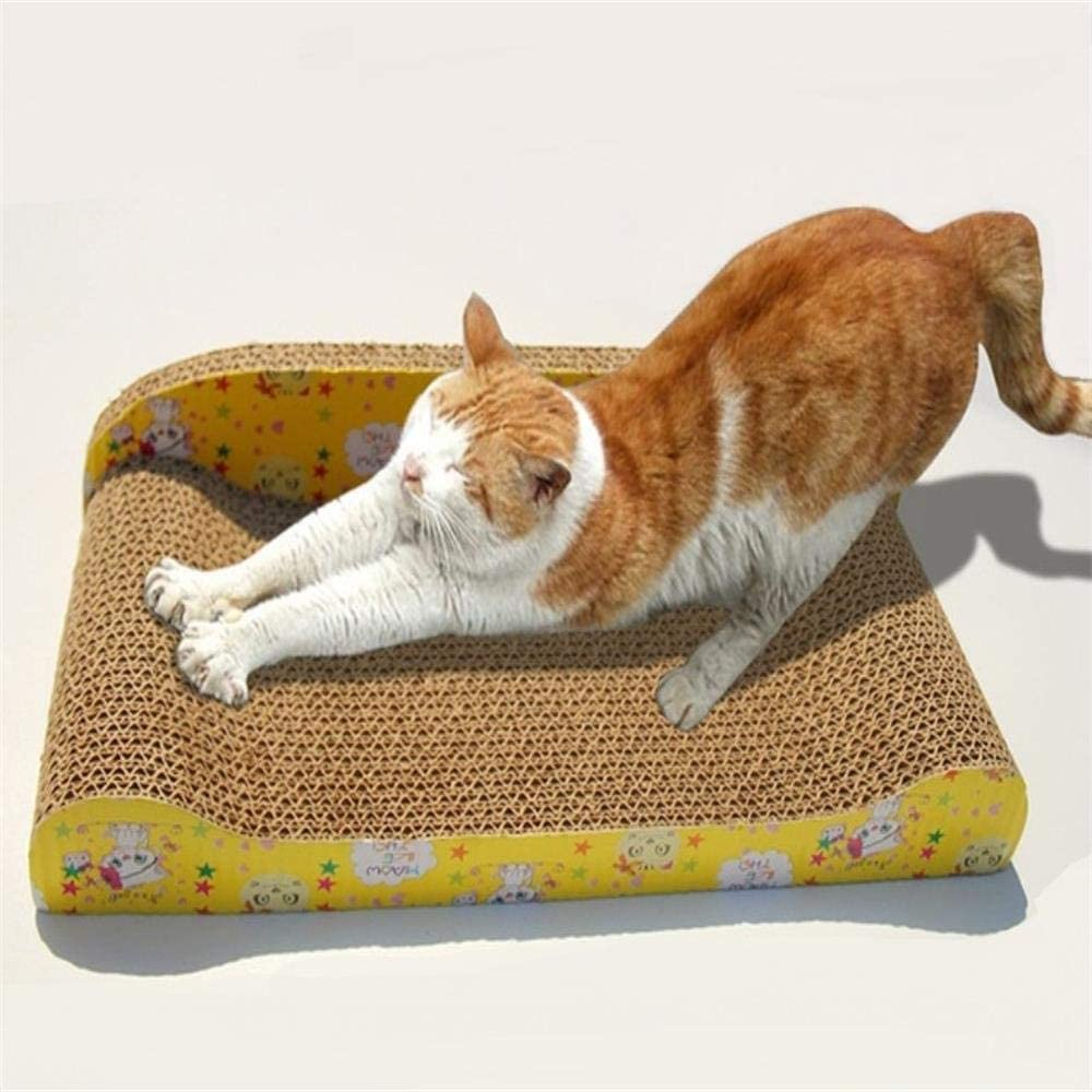 AISHIBAO Cat Scratching Pad Arch Type Double-Sided Use Scratcher Cardboard Kitty Toy