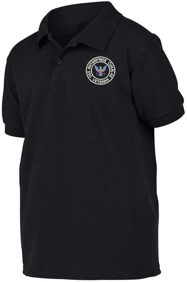 Military USS Enterprise CVAN-65 Ship Polo Shirt