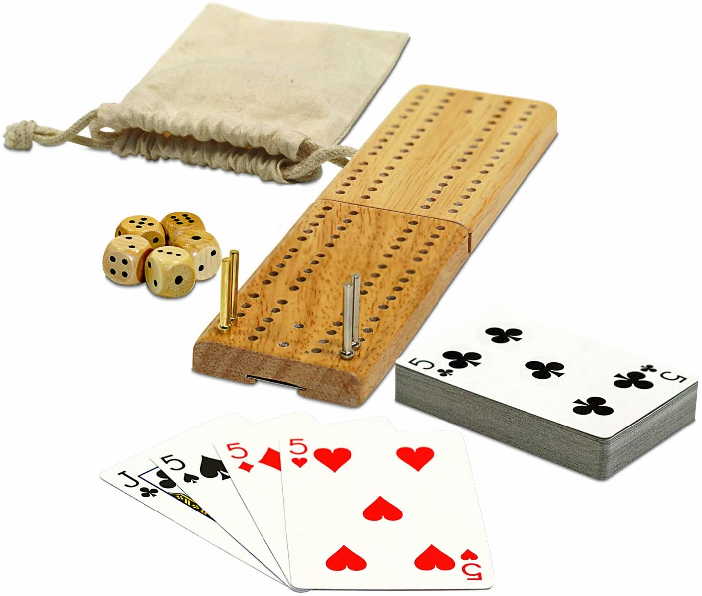 WE Games Cribbage and More Travel Game Pack