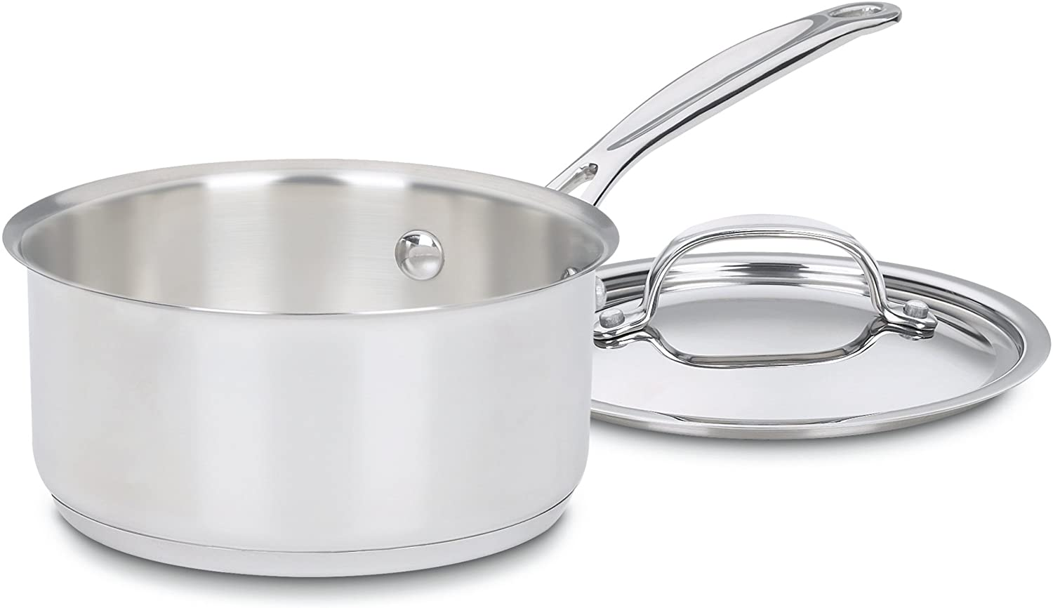 Cuisinart 719-16 Chef's Classic Stainless Saucepan with Cover, 1 1/2 Quart - Silver