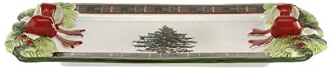 Spode Christmas Tree Figural Tartan Tray (12in)- Ceramic