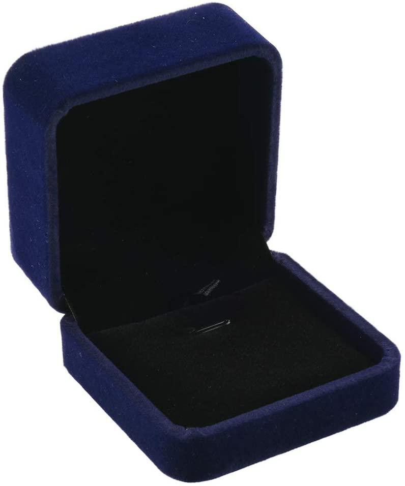 CM Necklace Box Velvet Necklace Pendant Box Jewelry Boxes Pendant Case for Necklace Chain Storage