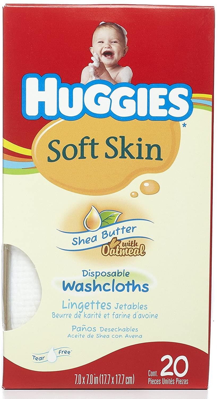 Huggies Shea Butter Washcloth - 20 count