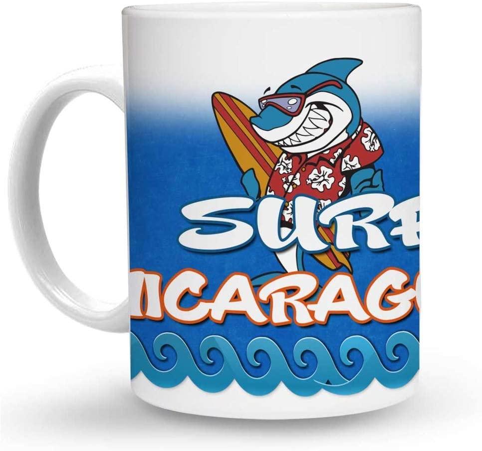 Makoroni - SURF NICARAGUA Surf Surfing 6 oz Ceramic Espresso Shot Mug/Cup Design#50