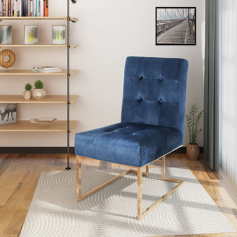 Christopher Knight Home Baron Modern Velvet Accent Chair, Cobalt