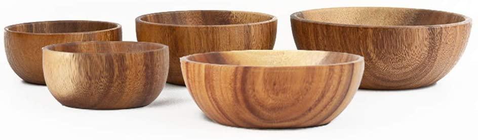 Wooden Bowl,Large Salad Bowl Retro Home Solid Wood Instant Noodle Bowl Wooden Tableware(Single Bowl),105.5cm