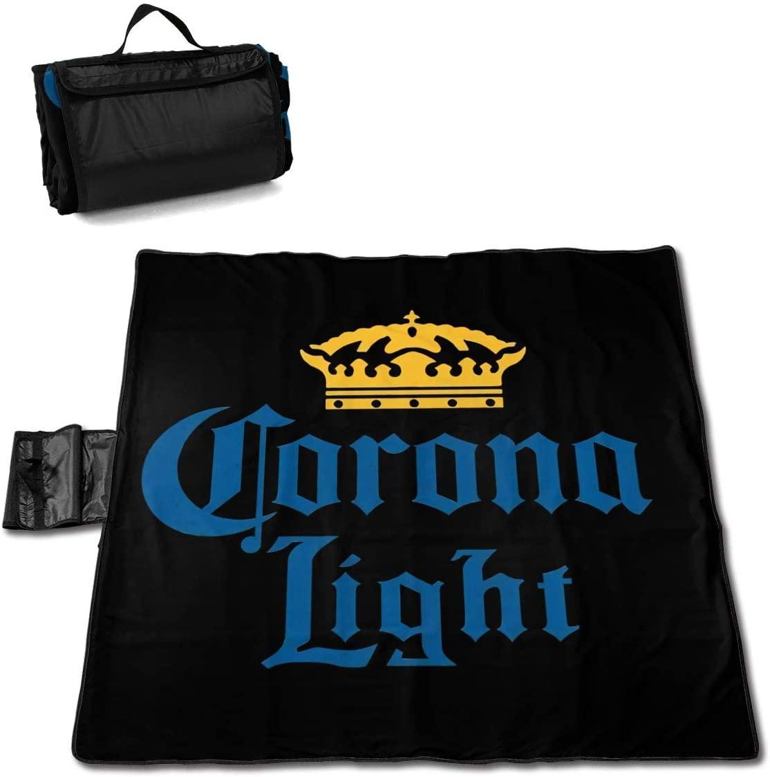 Zcm Corona Lights Portable Printed Picnic Blanket Waterproof 59x57(in)
