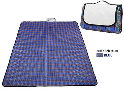 FQYYDD Picnic Blanket Outdoor Mat Picnic Pad Beach Pad Portable Travel Blanket Plus Sleeping Pad Backpack Waterproof. 150X180Cm Blue