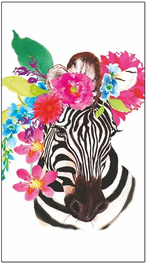 Paperproducts Design PPD 1412748 Flora Zebra Guest Towels/Paper Napkins, 5
