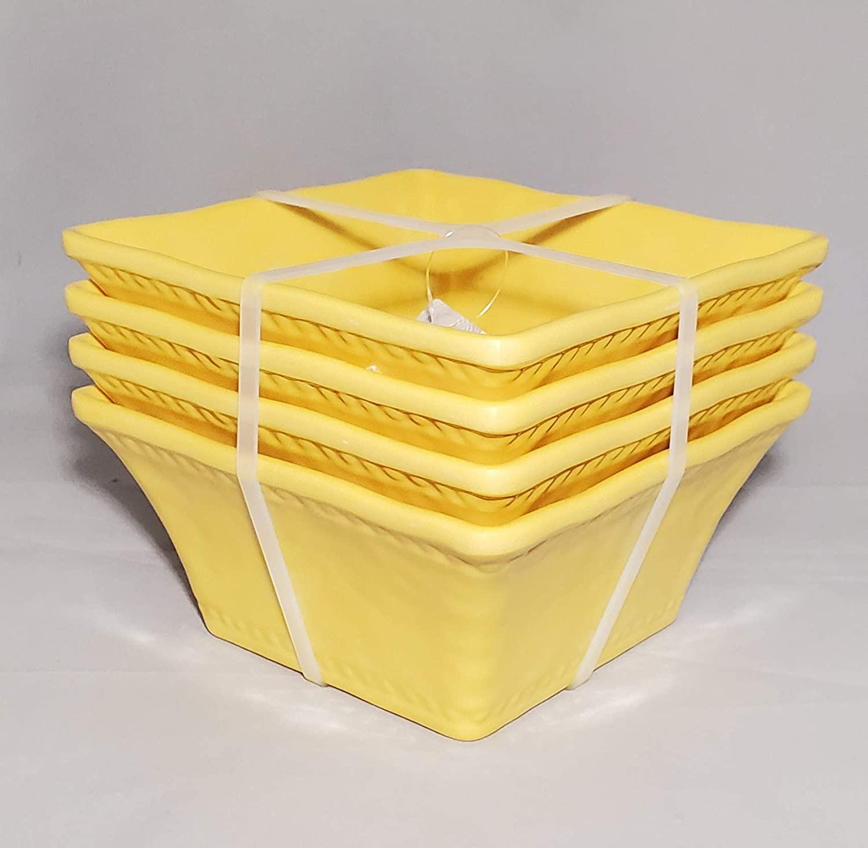 Tommy Bahama Bowls Hobnail Yellow Melamine 6