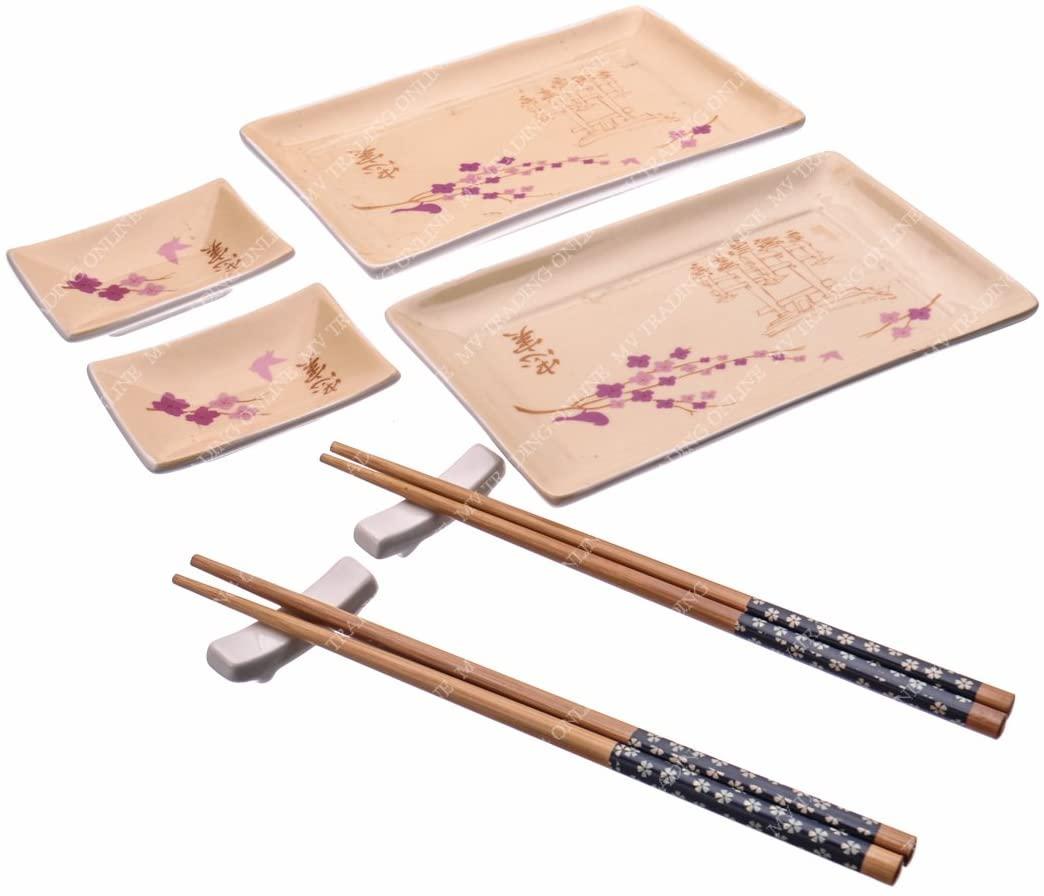 M.V. Trading MMIDIS45V 8 Pieces Beautiful Sushi Set for Two