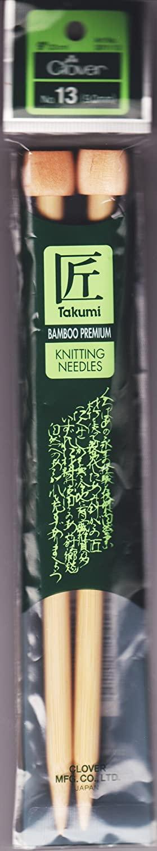 Takumi Bamboo Single Point Knitting Needles 9-Size 13/9mm