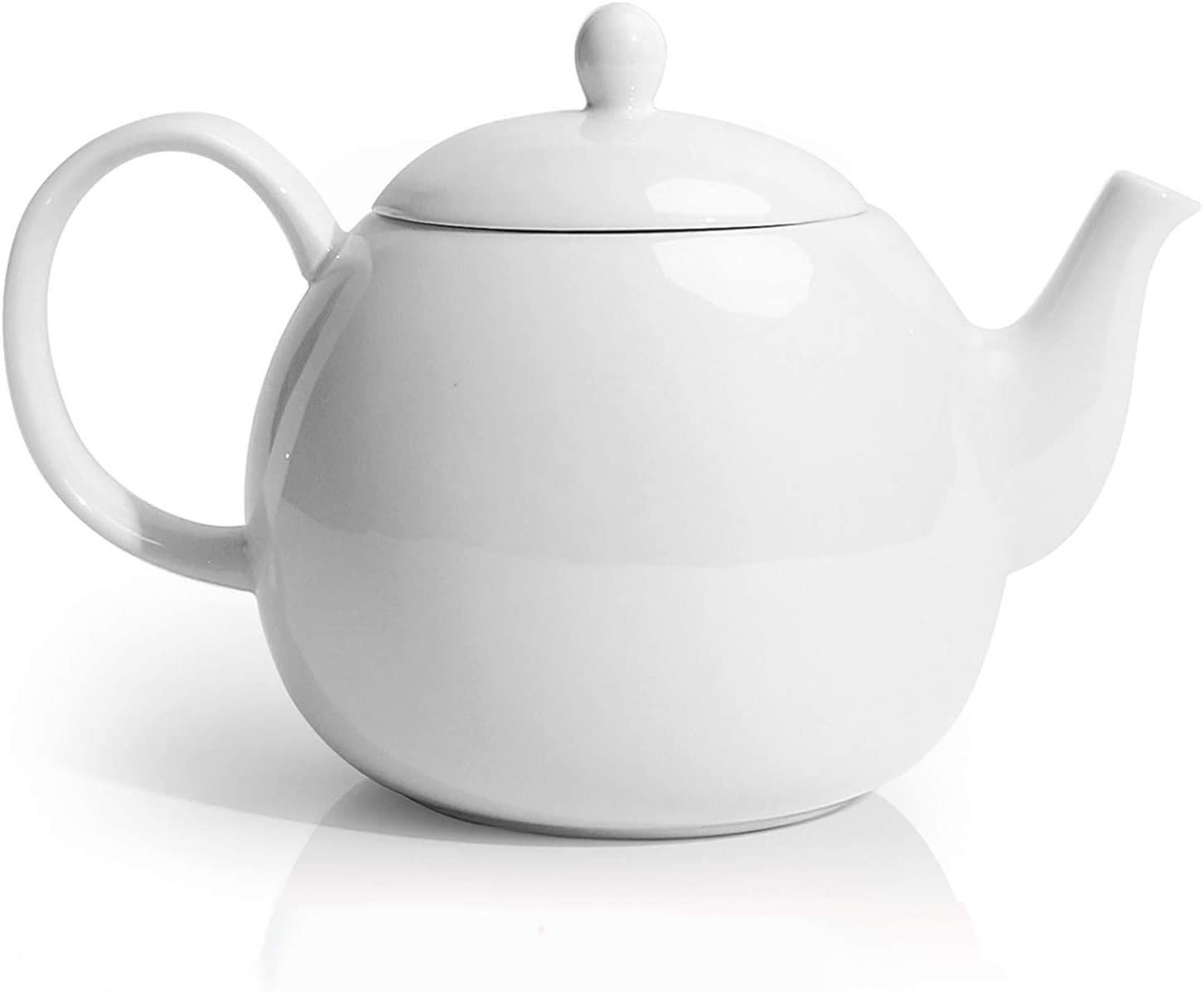 Sweese 220.101 Porcelain Teapot, 40 Ounce Tea Pot - Large Enough for 5 Cups, White