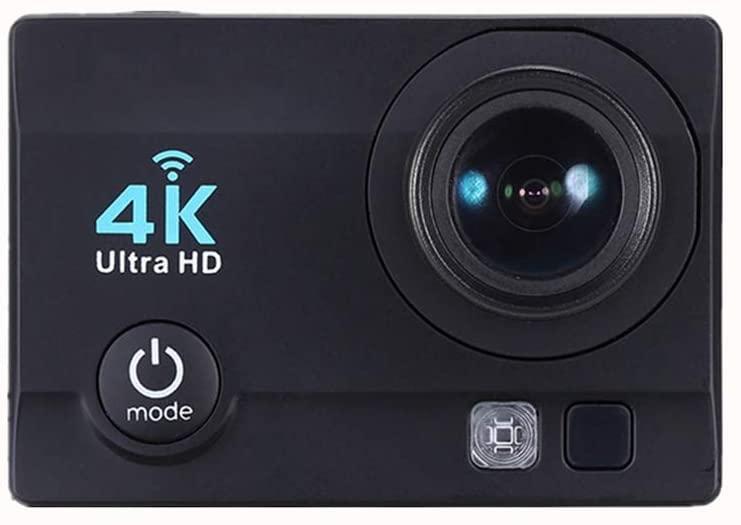 Action Camera, 4K Wireless WiFi HD Sports Camera Outdoor Waterproof Smart Mini Sports DV Camera, for Live Streaming Stabilisation Anti-Shake Support,Black