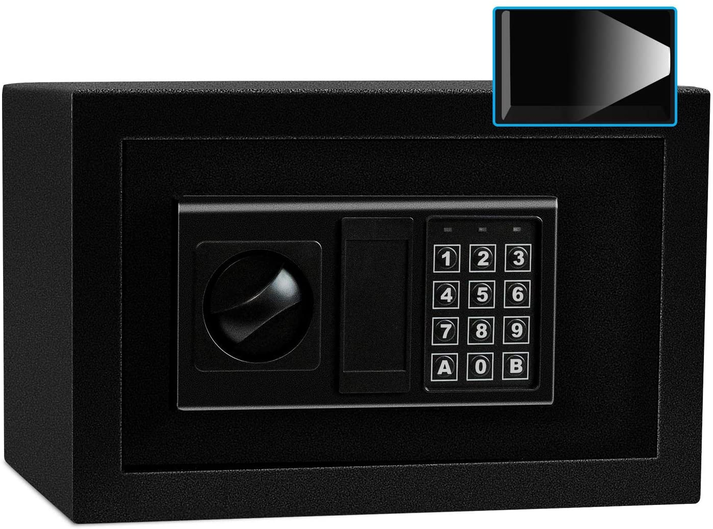 Sdstone Safe Box with Induction Light, Electronic Digital Safe with Keypad, Wall or Cabinet Anchoring Design -Protect Cash Money, Jewelry, Passports-for Home, Business or Travel,0.45 Cubic Feet
