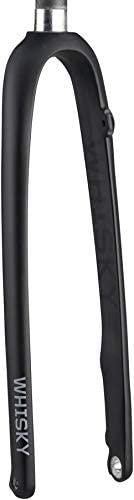 WHISKY - No.9 Carbon Fiber Cyclocross Bike Fork - 12mm x 100mm Thru Axle, 1-1/8 Inch Straight Steerer, Flat Mount Disc Brake