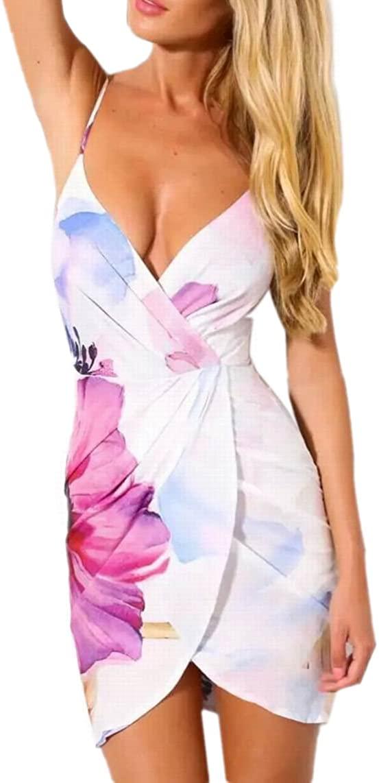JJ-GOGO New Slim Sexy Floral Bodycon Dress