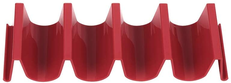 Easyu Taco Holder, ABS Sanitary Materials Mexican roll rack Each Truck Pallet Rack Can Hold Up To 4 Tacos (Red)