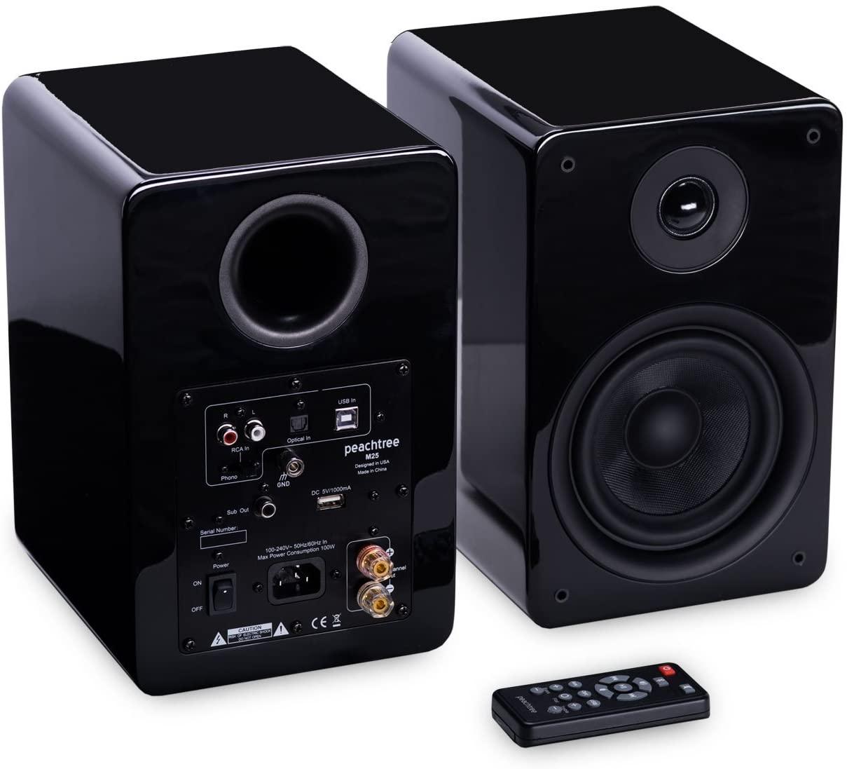 Peachtree Audio M25 Powered Speakers (Pair) - Piano Black